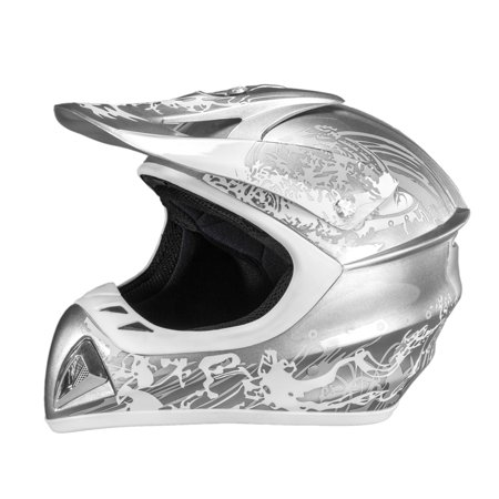 Adult Raider Adrenaline Helmet MX ATV Off Road BMX Dirt Bike Motorcycle DOT