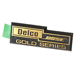 C4 Corvette 1990-1996 Delco Bose Gold Series Speaker Emblem