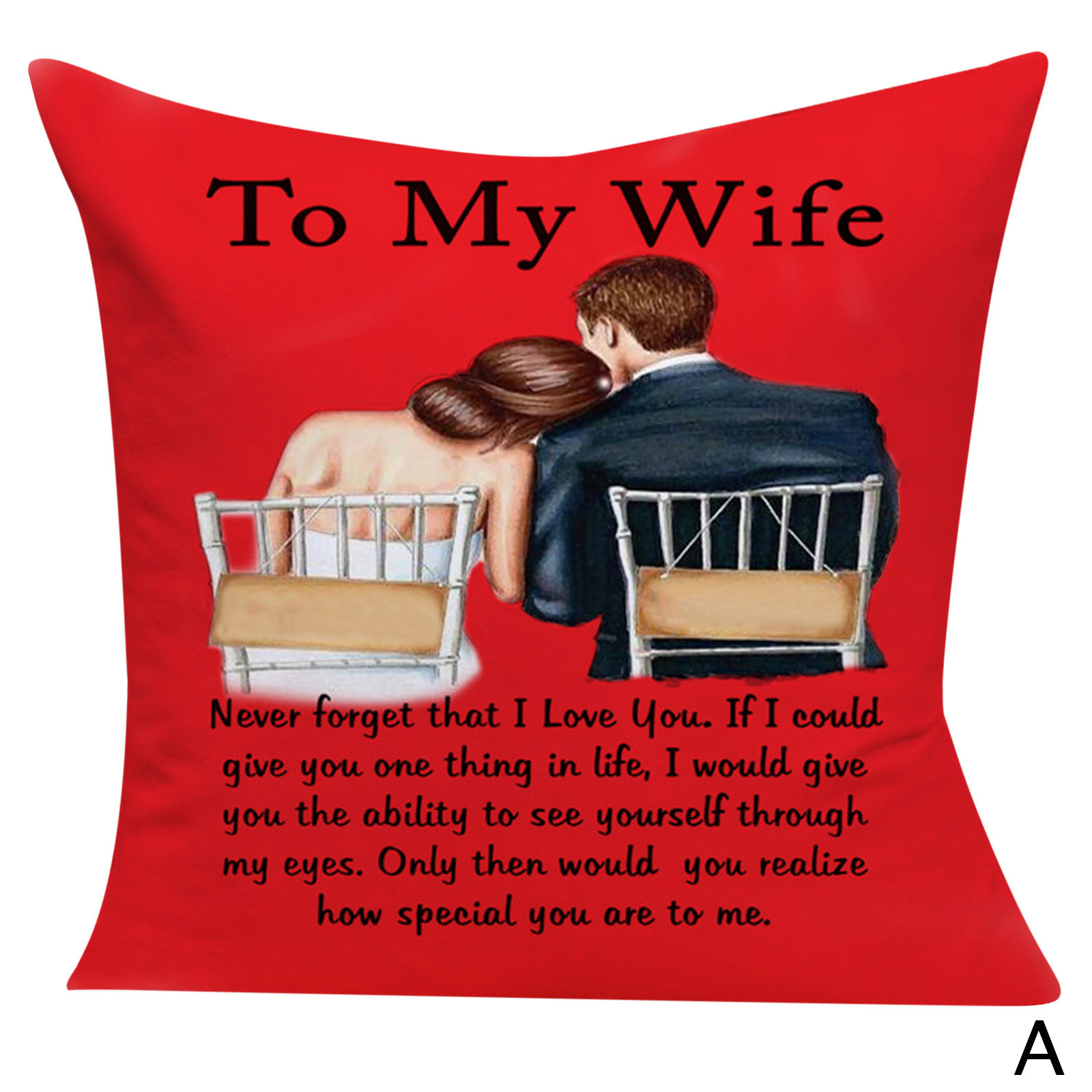 """18/"""" Valentine/'s Day Throw Pillow Cases Cafe Sofa Cushion Cover Home Decor"""