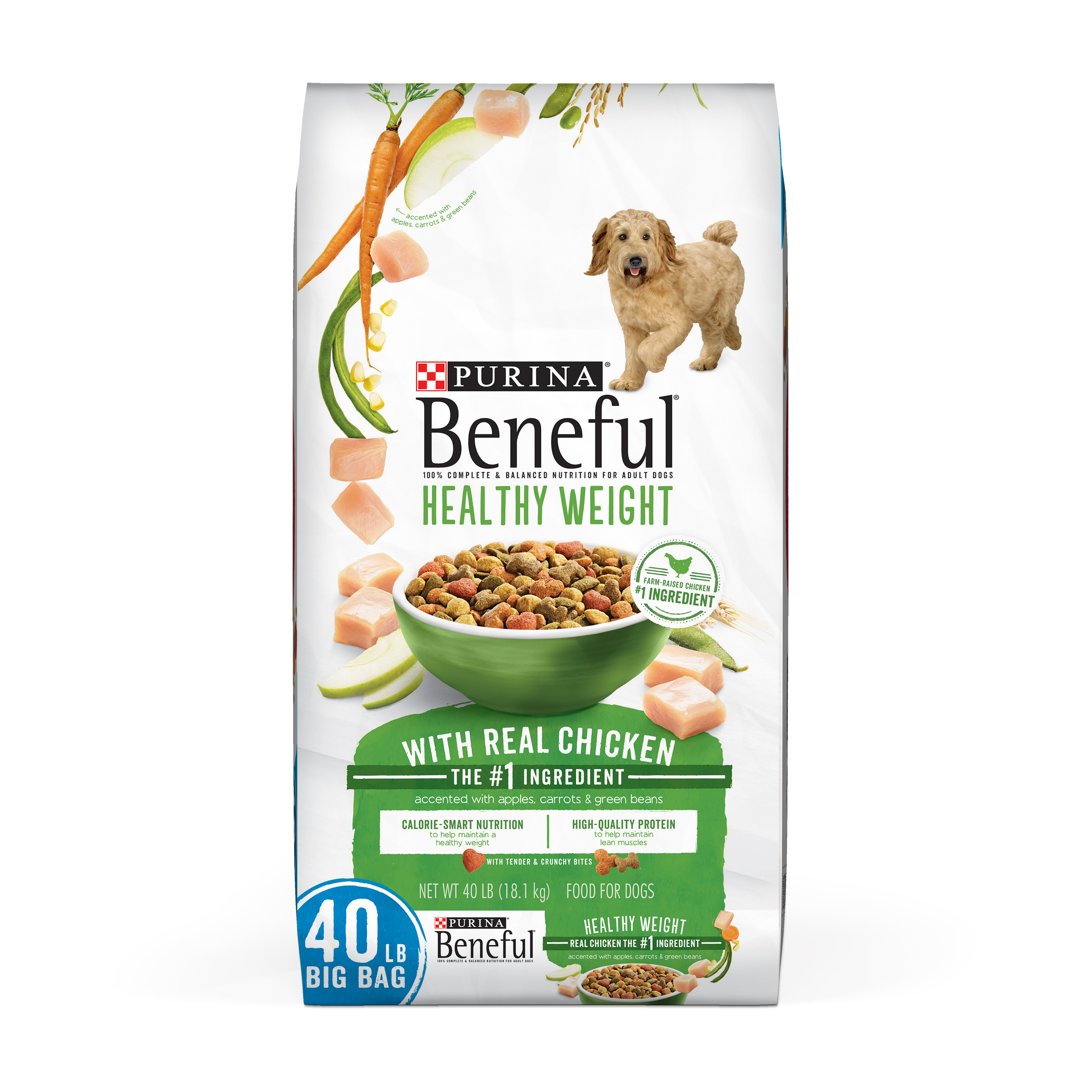 Purina Beneful Healthy Weight With Real Chicken Adult Dry Dog Food - 40 lb. Bag
