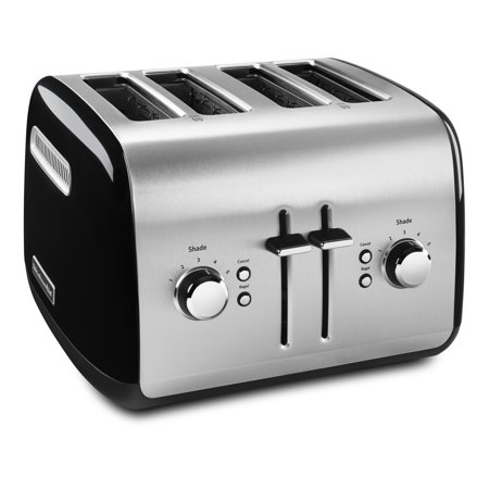 KitchenAid 4-Slice Toaster with Manual High-Lift Lever, Onyx Black (KMT4115OB)