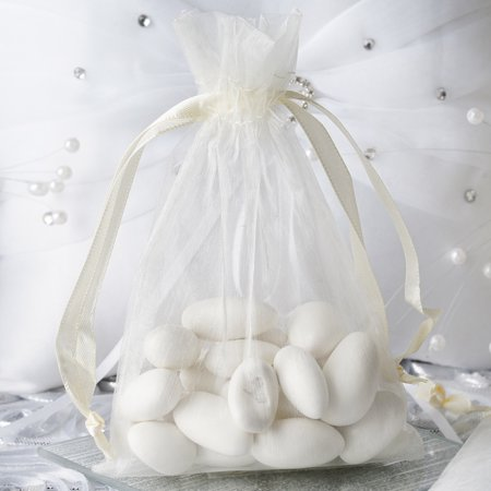Wedding Candy Wrap (Efavormart 10PCS Organza Gift Bag Drawstring Pouch for Wedding Party Favor Jewelry Candy Sheer Organza Bags - 4