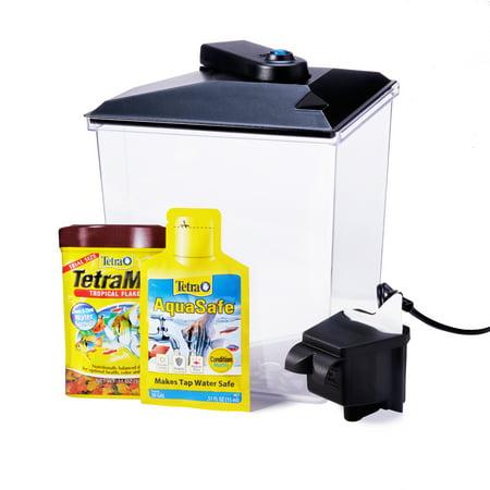 Color Fun Fish Bowl (Aqua Culture 1-Gallon Aquarium Starter Kit with)