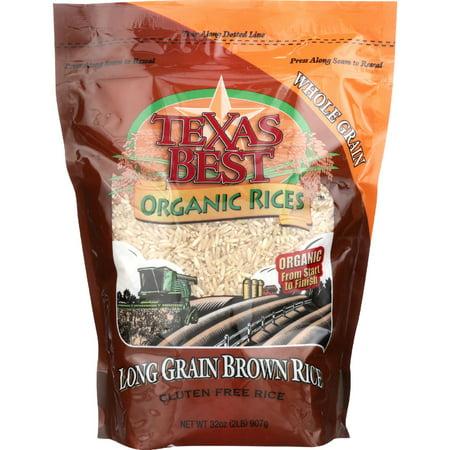 Texas Best Organic Rices Gluten Free Long Grain Brown Rice, 32
