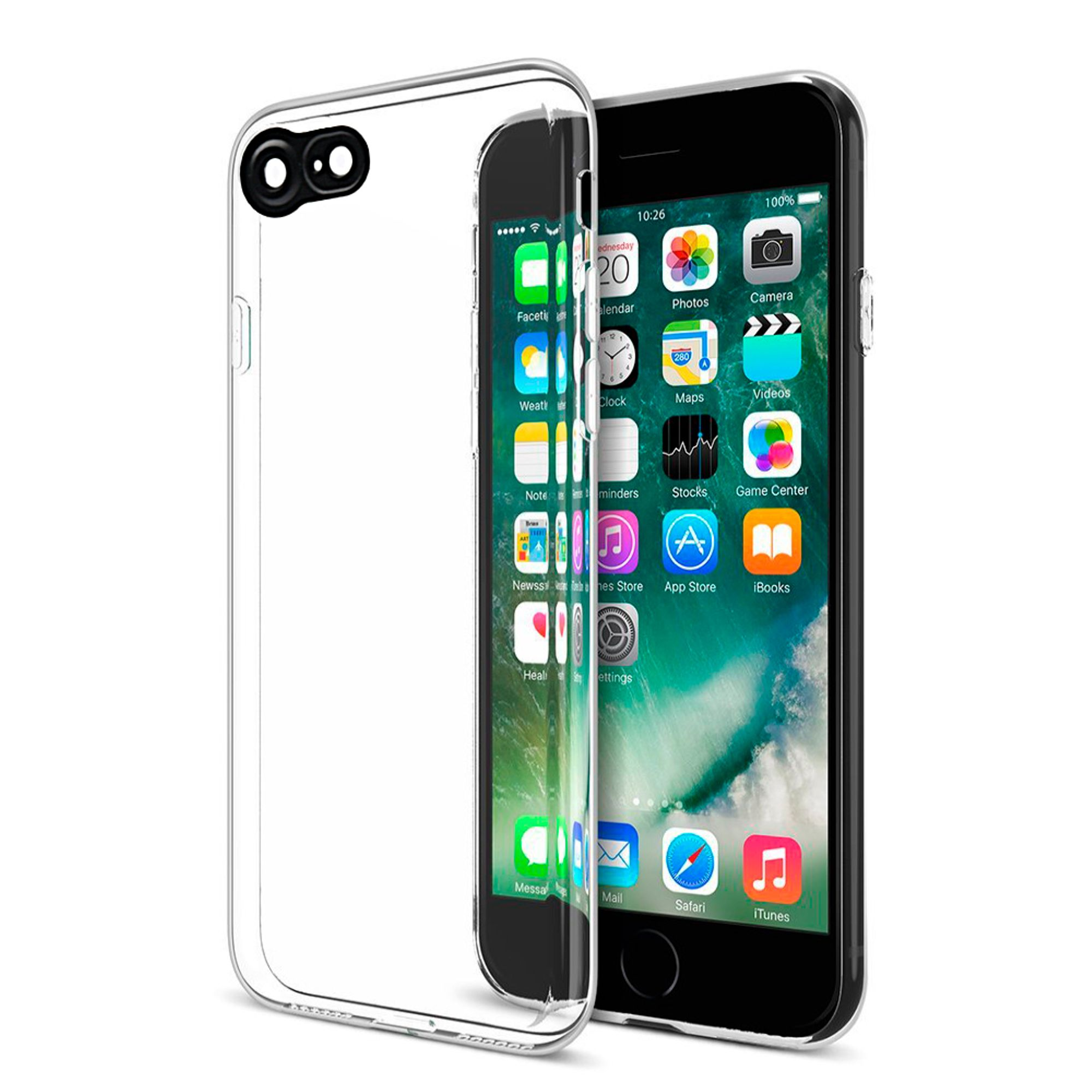 Insten The Cat Eyes High Quality TPU Case with Camera Lens Protector For Apple iPhone 8 / iPhone 7 - Clear