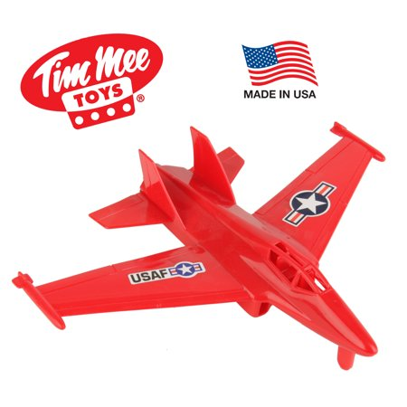 TimMee Plastic Army Men FIGHTER JET - Red 1:50 Scale Airplane: Made in USA