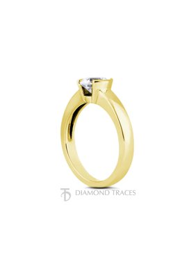 0.40ct E-SI2 Ideal Round Certified Diamond 14k Gold Classic Solitaire Ring 2.8mm