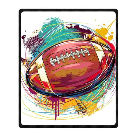 CADecor Rugby Blanket Fleece Throw Blanket for Sofa or Bed 58x80 inches