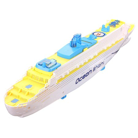 Ocean Liner Cruise Ship Boat Electric Toy Gift Flash LED Light Sound Kid Child Children Flashing Light Song (Cruise Ship Deck)