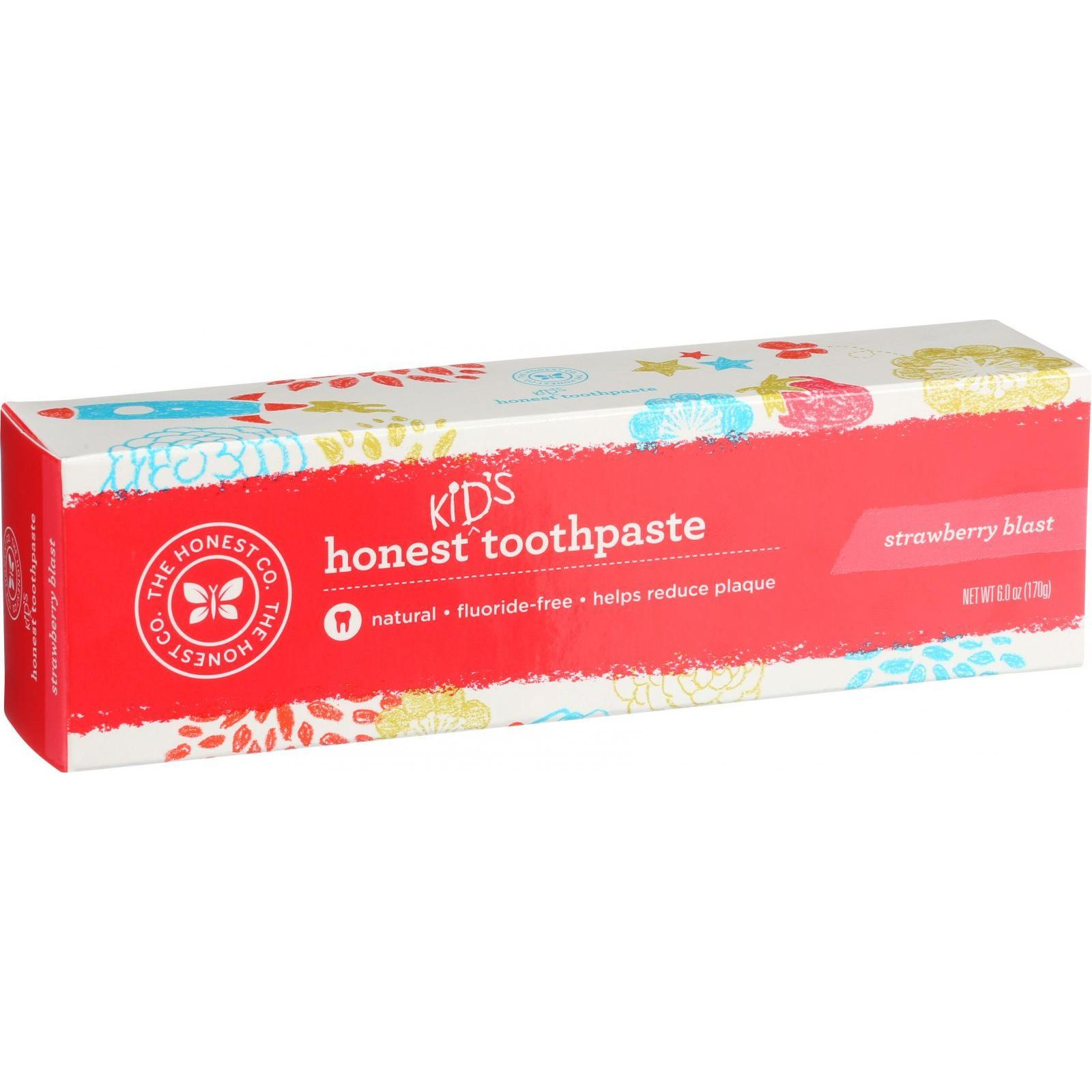 The Honest Company Honest Toothpaste - Kids - Strawberry Blast - 6 oz