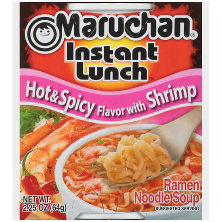 Maruchan Instant Lunch Hot Spicy Flavor W Shrimp Instant Lunch
