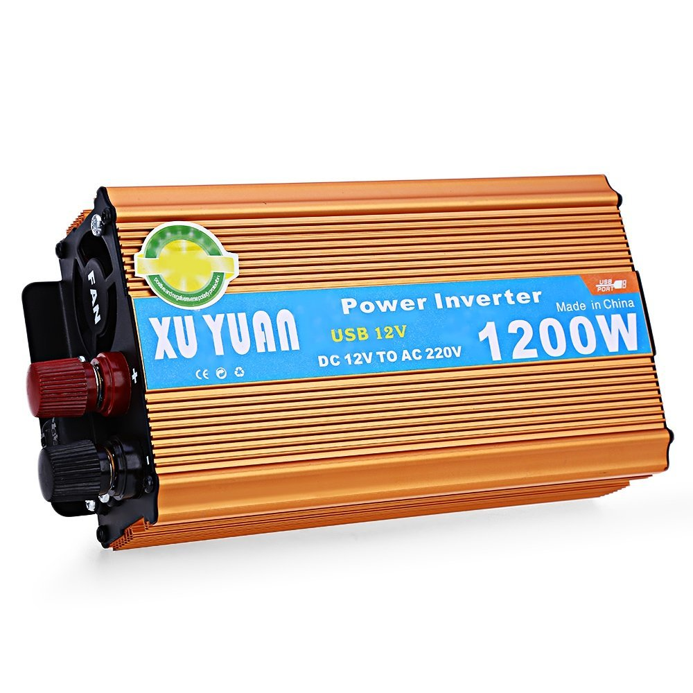 1200W DC 12V to AC 220V Car Power Inverter with USB Charging