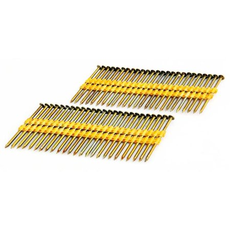 2-.37 in. Coated - Plastic Collated - Smooth shank -Brite .113 in. 2K Color -