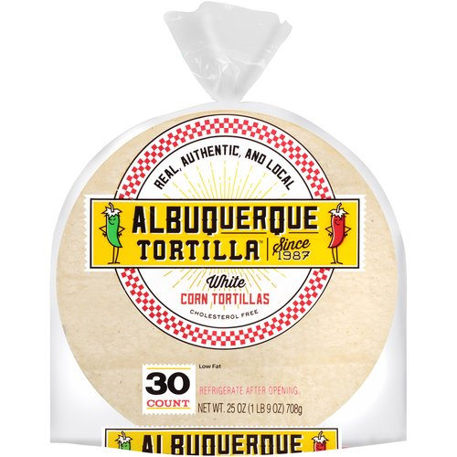 Albuquerque Tortilla White Corn Tortillas, 30 ct
