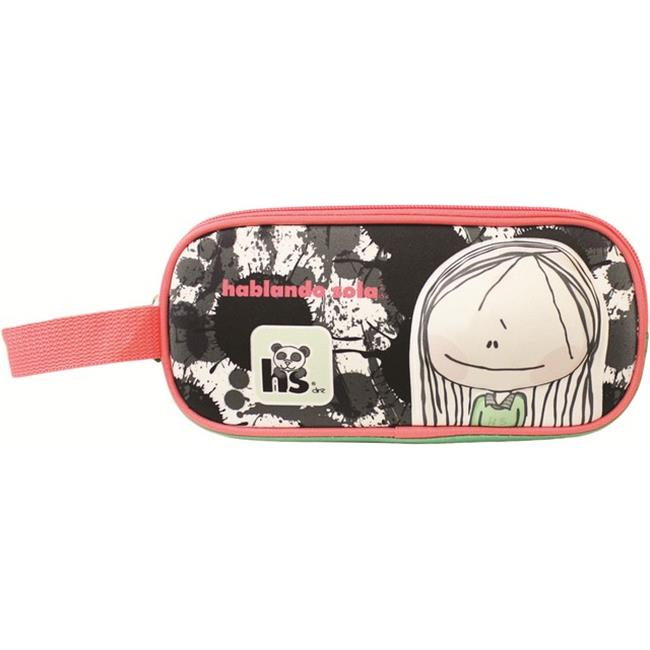 Hablando Sola 2597 Panda Pink Pencil Case