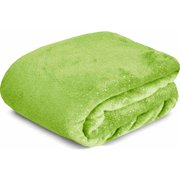 Your Zone Glitter Fur Blanket Green
