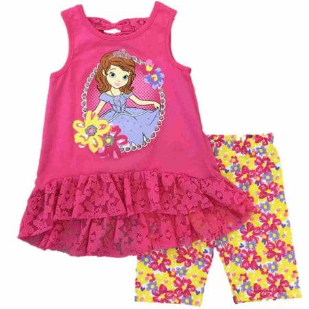 Disney Sofia The First Tunic Top Shirt /& Leggings Set Girls size 6 NWT