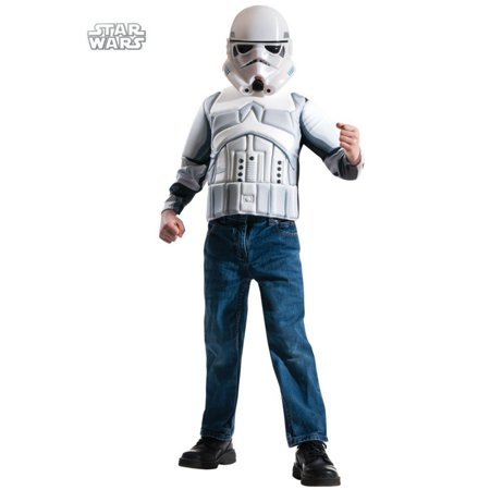 Boys Storm Trooper Muscle Chest Shirt Set S](Muscle Chest Shirt)