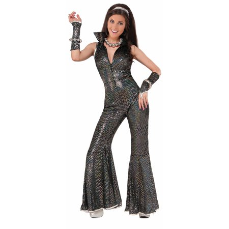 Womens Disco Jumpsuit Halloween Costume - Disco Costumes Womens