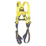 3M DBI-SALA 1107800 Full Body Harness, Vest Style, L, Repel(TM) Polyester, Yellow