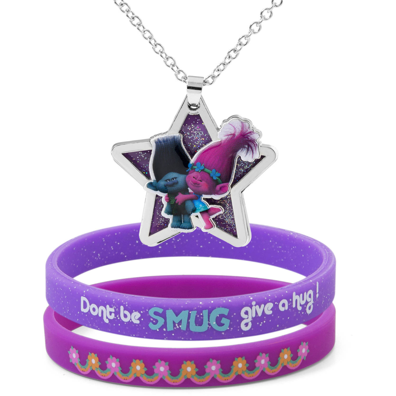 Trolls Star Pendant and Bracelet Set