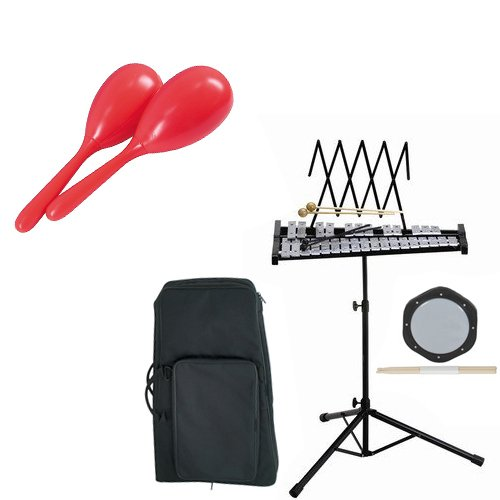Band Directors Choice Educational Bell Kit Pack Deluxe w Carry Bag, Drum Practice Pad &... by Band Directors Choice