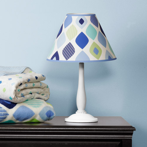 Baby Boom Table Lamp, Blue Mosaic