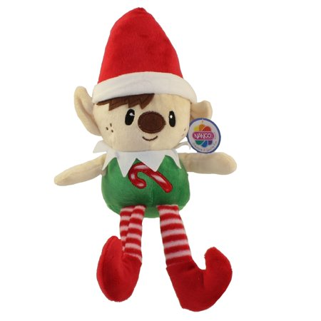 Generic Value Plush - BOY HOLIDAY ELF (Red Hat & Candy Cane on Chest)(9 inch)](Candy Cane Elf)