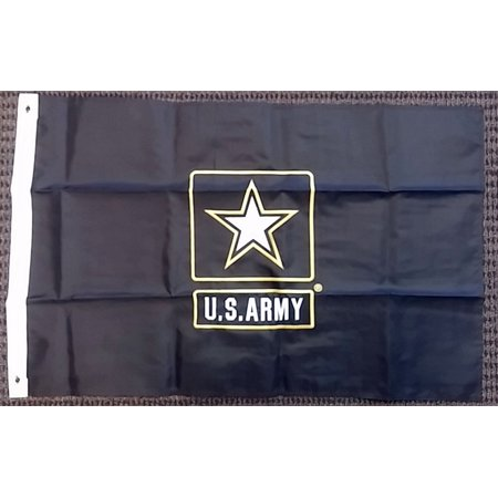 - United States Army Star Double Sided Nylon Embroidered 2x3 Foot Flag Banner USA