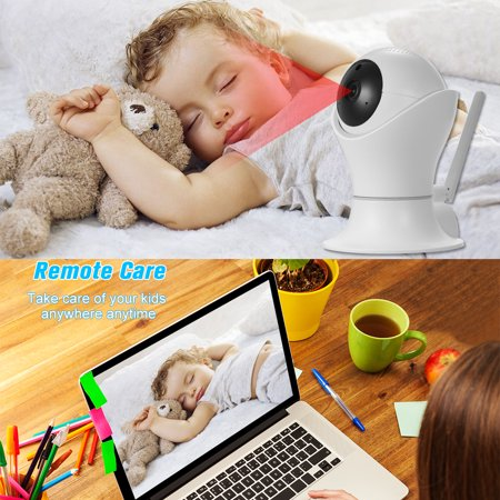 1080P WiFi IP camera 360 Degree Panoramic Navigation Pan/Tilt Wireless Camera CCTV Baby Monitor WiFi Camera for Baby/Nanny/Elder/Dog/Pets Monitoring with APP, Pan/Tilt, 2-way Audio, Motion Detection H - image 3 of 7