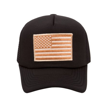 Military Patch Adjustable Trucker Hats - Desert American Flag ... f47b4c67cbe