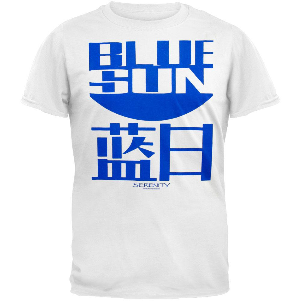 Serenity - Blue Sun White T-Shirt