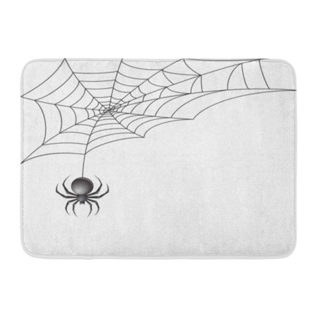 GODPOK Clip White Halloween Black Scary Spider Insect with Promo Tattoo Rug Doormat Bath Mat 23.6x15.7 - Nick Halloween Promo