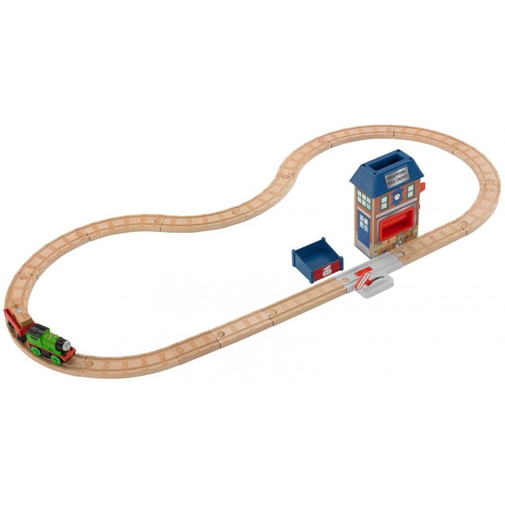 Thomas & Friends Wooden Railway Percy & The Mail Station Playset by Fisher-Price