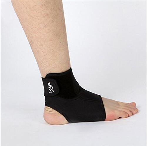 Active Authority 888Left-L Ankle Protection Adjustable Ankle Support Boots Wear Super Strong Ankle Bandage Brace - Black, Large, Single, Left