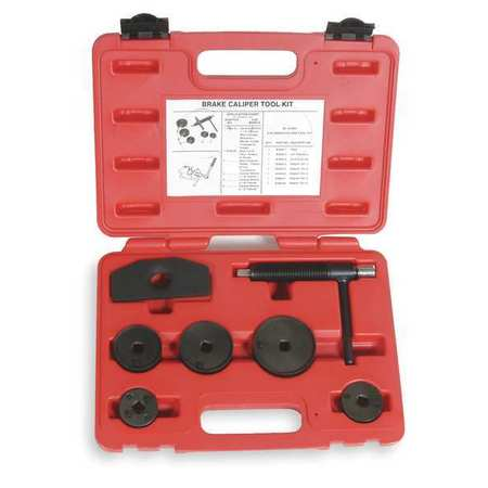 Westward 1EKA7 Carbon Steel Brake Caliper Tool Kit 7 pcs.
