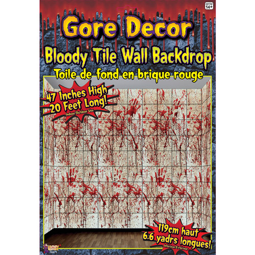 20' x 4' Bloody Tile Wall Roll Halloween Accessory