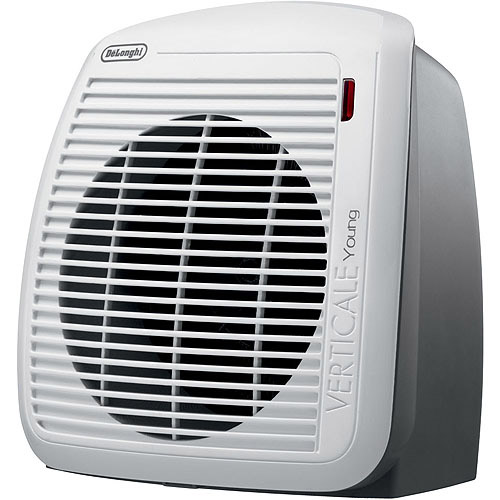 DeLonghi HVY1030 Upright Personal Fan Heater in Gray with White Faceplate