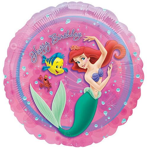 Ariel the Little Mermaid Foil Mylar Balloon (1ct)