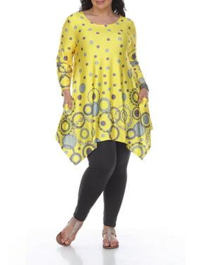 e8d9a4021b9 Yellow Womens Plus Tops   T-Shirts - Walmart.com