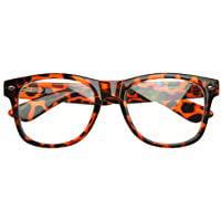 Cp Usa Vintage Inspired Eyewear Nerd Geek Tortoise Clear Lens Horn Rimmed (Vintage Glass Frames)