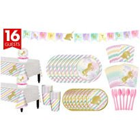 Unicorn Sparkle Complete Tableware Party Kit for 16 Guests  Birthday Party Supplies (18th Birthday Tableware)