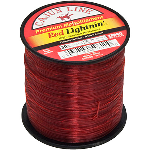 Cajun Red Lightnin' Quarter Pound Spool, 30 lb