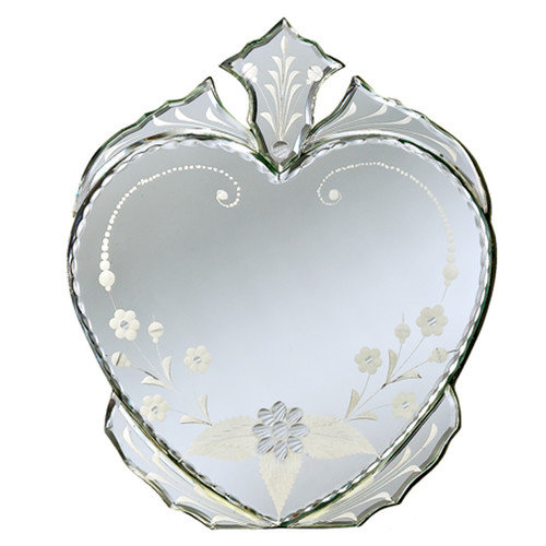 Venetian Gems Heart Venetian Table Mirror