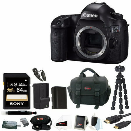 Canon EOS 5DS R 50.6 MP DSLR Camera(Body) with 64GB Deluxe Accessory Bundle