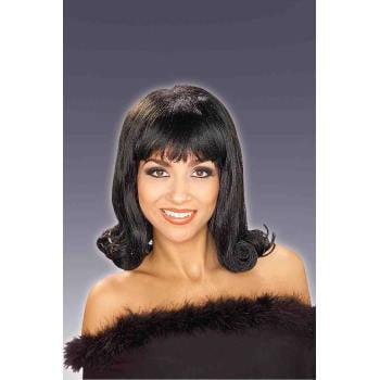 60'S FLIP WIG-BLACK - 60's Wigs