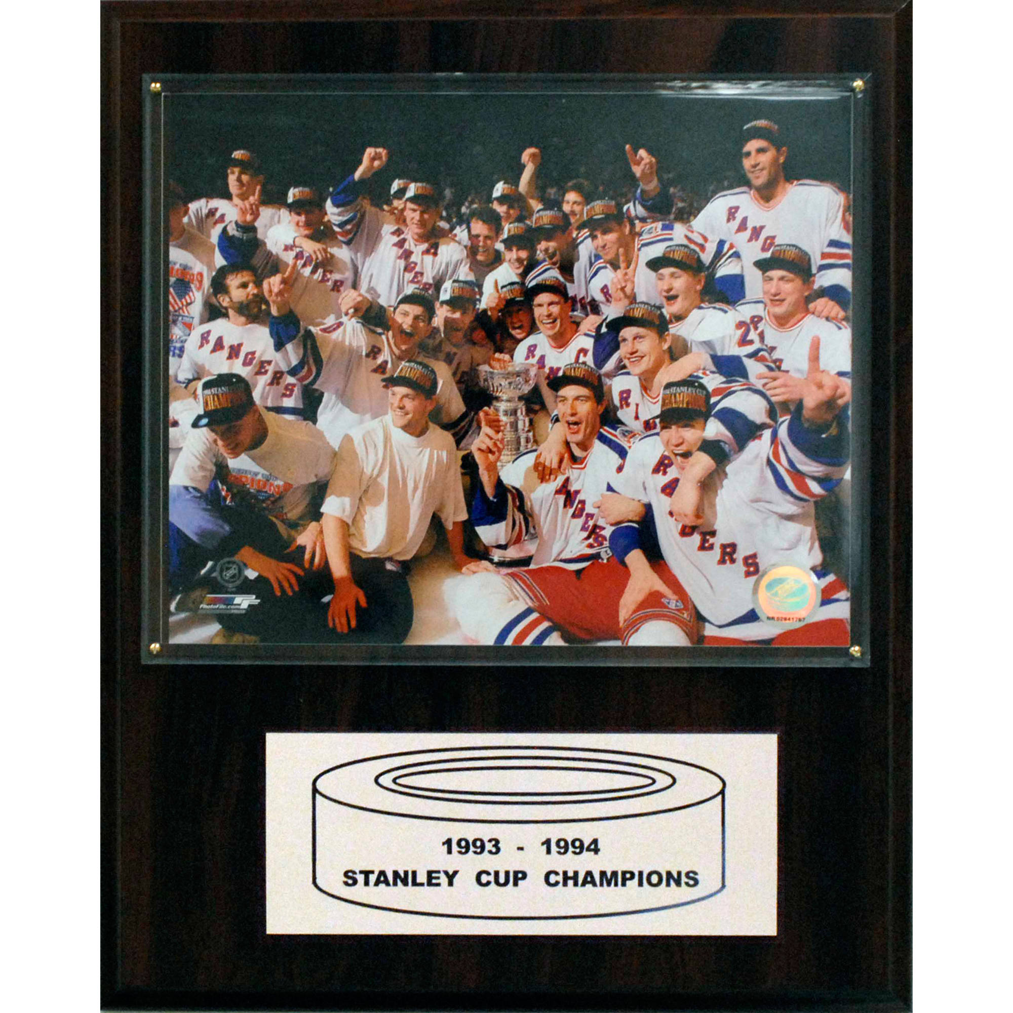 C&I Collectables NHL 12x15 New York Rangers 1994 Stanley Cup Champions Plaque