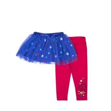 e2ff7bf204c22 DC SUPERHERO GIRLS - Little Girls  4-6X Tutu Skirt and Legging 2-Piece Set  - Walmart.com