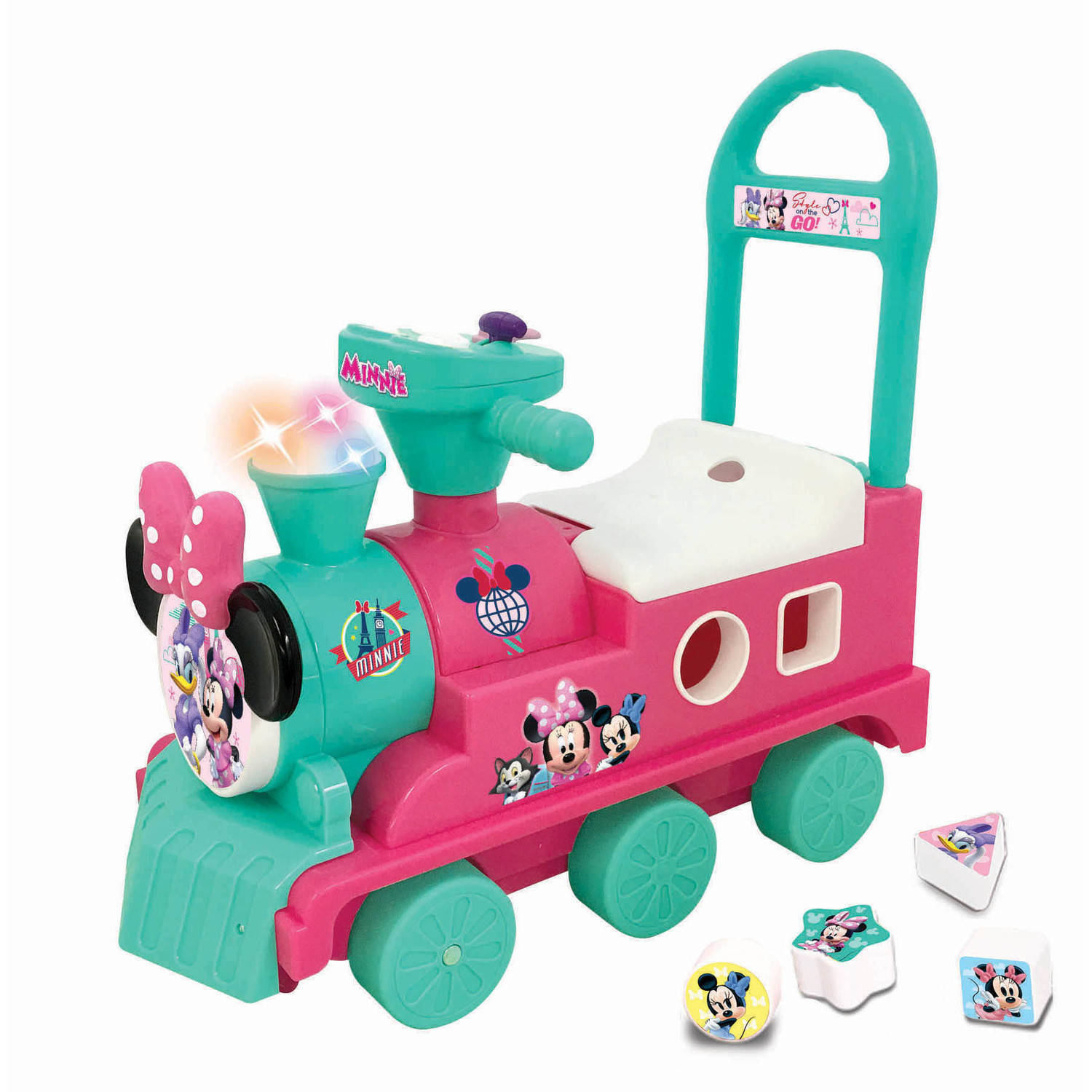 Kiddieland Disney Minnie Mouse Play n\' Sort Activity Train Ride-On ...