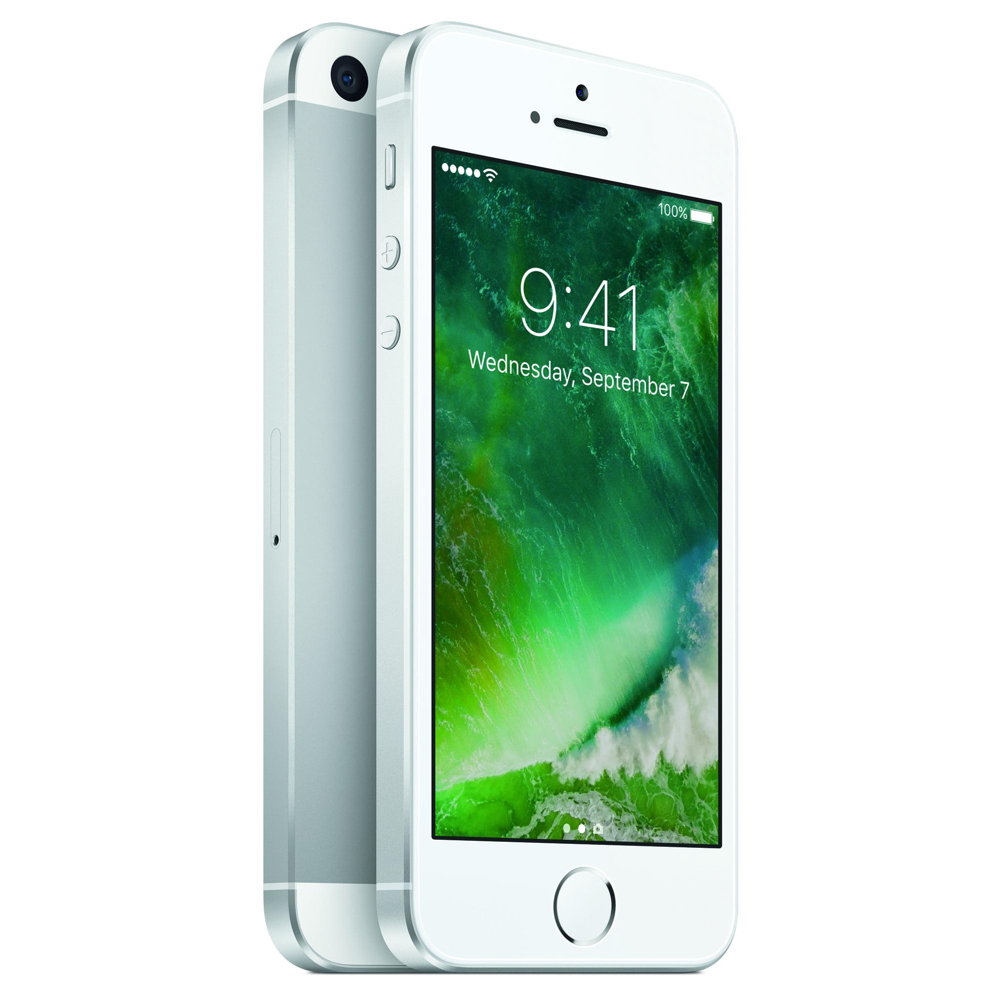 Refurbished Apple iPhone SE 32GB, SIlver - Straight Talk ...